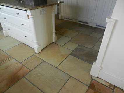Indian Stone Floor Cleaning in Cheshire after