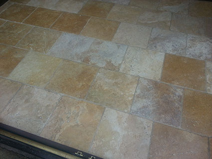 Travertine Floor Cleaning in Cheshire 3