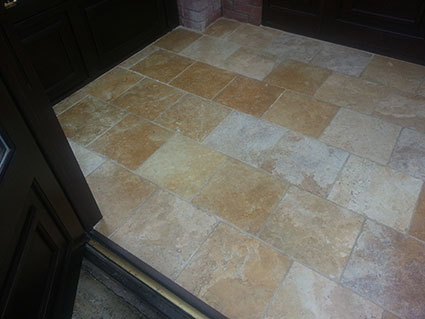Travertine Floor Cleaning in Cheshire 4